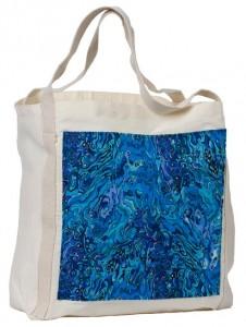 Paua blue tote bag