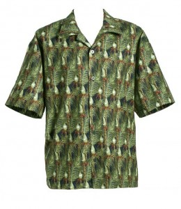 Nikau Palm fabric shirt